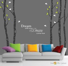 Winter Trees Removable Wall Decals