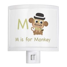 Cool M is for Monkey Nite Lights