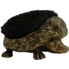 Antique English Figural Pen Nib Wipe - Hedgehog c.1880 ~ would love to find one of these.