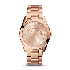 Fossil Perfect Boyfriend Watch - Women's Watches in Rose Gold Bracelets For Boyfriend, Boyfriend Watch, Perfect Boyfriend, Stainless Steel Watch, Stainless Steel Bracelet, Fossil Watches, Women's Watches, Silver Watches, Rose Gold Watches
