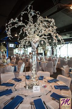 Tablescapes and centerpieces by Socially Artistic Events at the Make-A-Wish 2013 Fundraiser at Cleveland Brown's Stadium.