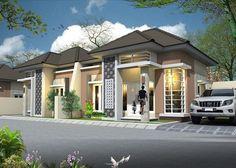 Model Rumah Minimalis Sederhana 1 Lantai Tampak Depan Dengan Desain Teras Batu Alam