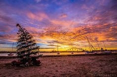 Alex Baltov Photography at Mission Bay   -    Holiday Season San Diego sunrise on the bay this morning  12.16.14