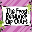 Bright colored Frog Themed Behavior Chart
