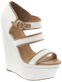 L.A.M.B. Inesa Wedge - I Love wedges!  They are so much more comfortable than pumps and this white pair would be great for summer!