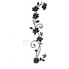 adesivos de parede adesivos de parede, flor preta parede pvc videira adesivos de 2017 por R$16.87