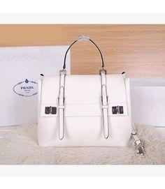 99f7d84e22 Prada BN2790 Leather Top-handle Bag In White Prada