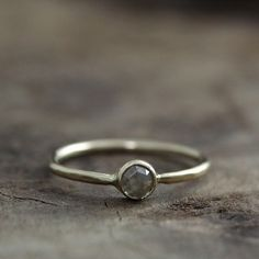 gorgeous olive green rose cute diamond ring from Andrea Bonelli Jewelry.