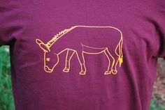 Jackass tshirt, Donkey, Maroon and Yellow, Offensive , Controversial , Screen Print , Humor Shirts