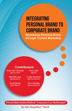 This Ahabook is a compilation of notable AhaMessages from #ThoughtLeaderLife interviews for the month of June. It is about understanding the importance of personal brand and corporate brand and how to integrate each other for the betterment of the organization. It contains a small guide on how to train your people and provide them with opportunities to grow their personal brand and how to take advantage of the employee's inclination to be social, share and engage with fut