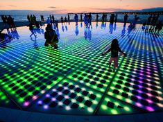 Solar LED Glass Floor Installation by Nikola Basic