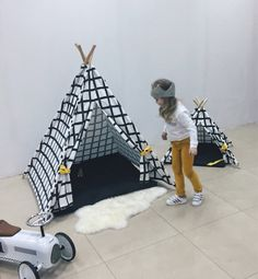 Backstage our photoshoot. The new model of the teepee will be in our store soon. Canvas Teepee Tent, Kids Teepee Tent, Childrens Teepee, Wooden Poles, Black And White Canvas, Kidsroom, Scandinavian Style, Play Houses, Cotton Canvas