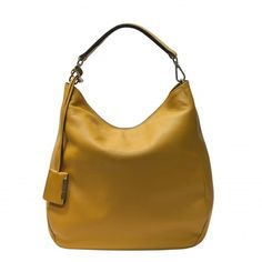 GIANNI CHIARINI BAG BS3251 - Yellow Hearth - Large leather shoulder bag. Made in Italy.