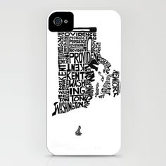 Typographic Rhode Island iPhone Case--might have to get it!