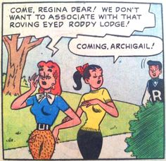 The furry pants a gender-swapped Archie is wearing. | Community Post: 31 Totally Wearable Vintage Archie Comics Looks For Girls