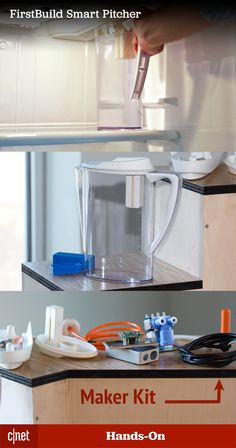 Oh, your fridge doesn't have a built-in water filter? Yeah, you're gonna want to install this DIY kit. Water Pitchers, Smart Kitchen, Water Filter, Diy Kits, Filters, Store, Awesome, Life, Water Jugs