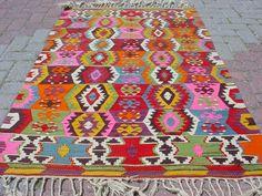 VINTAGE Turkish Kilim Rug Carpet, Handwoven Kilim Rug,Antique Kilim Rug,Decorative Kilim, Naturel Wool 36,6 X 60,2. $239.00, via Etsy.