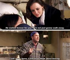 Luke and Lorelai forever! Rory Gilmore, Gilmore Girls Netflix, Gilmore Girls Funny, Gilmore Girls Quotes, Best Tv Shows, Best Shows Ever, Movies And Tv Shows, Favorite Tv Shows, Glimore Girls
