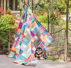 Go mad for plaid! The Happy Scrappy Quilt Kit includes a pattern and vibrant yarn-dyed fabric from FreeSpirit's Loominous line, to sew this fun, fresh quilt top. Featuring lush woven plaids in a playful mix of styles and hues, this design is delightfully daring.