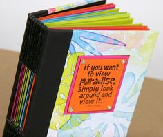 "It's that time again! Welcome to my stop on Club Scrap's Paradise  Blog Hop .               I've created a 5x7"" journal with papers from the..."