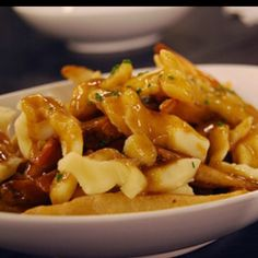 Fries smothered in gravy ....so very good!
