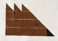 Plakboek: blokjes egel mozaiek