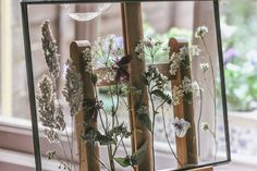 DIY Pressed wild flowers in glass frames