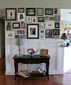 Collage of frames - living room