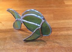 Copper foil stained glass free-standing fish