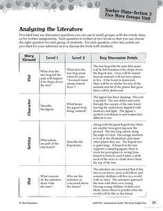 The Great Kapok Tree Leveled Comprehension Questions - Brenda Van Dixhorn - Google Books