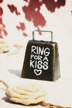 rRng for a kiss bell for rustic themed wedding