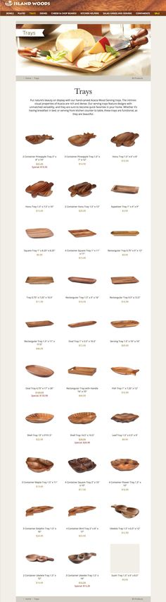 Wood Tray, Serving Trays, Acacia Wood, Hand Carved, Counter, Woods, Carving, Display, Island