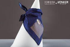 Shocking blue Dots Vichy Civic Dog® scarf, square pocket. http://civicdog.com/product/tuli-pañuelo-civic-dog-dots-azul-shocking