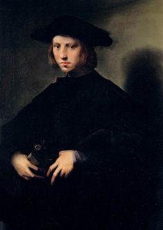 Domenico di Bartolomeo Ubaldini detto il Puligo (Firenze 1475--1527 ) Uomo con le mani alla cintola