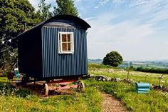 :) Garden Huts, Meditation Retreat, Shepherds Hut, Gypsy Wagon, Trailer, Tiny House Living, Camping, Cabins In The Woods, Shed