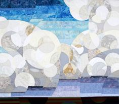 """Cumulonimbus, 48"""" x 56"""", 2008, by Linda Beach"""