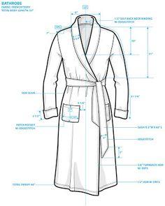 Bathrobe Tech #illustratorstuff #fashionflats #fashiontemplates #fashionsketches