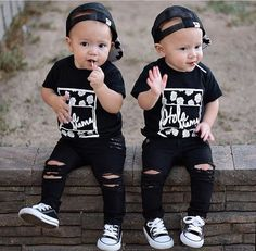 Black Distressed Skinny Jeans for Babies and Toddlers by FarmFreshDenim Women, Men and Kids Outfit Ideas on our website at 7ootd.com #ootd #7ootd