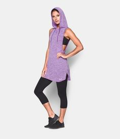 Women's UA Tech™ Hooded Tunic, MEGA MAGENTA