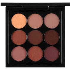 MAC Eyes x 9 Palette, Burgundy (£26) ❤ liked on Polyvore featuring beauty products, makeup, eye makeup, eyeshadow, beauty, cosmetics, fillers, burgandy times nine, mac cosmetics and burgundy eyeshadow