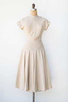 vintage 1950s dress   Collected Poems Dress