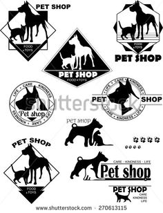 dog, cat, logo, pet store, care, kindness, life - stock vector