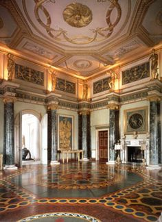 18th century Neoclassical style. Ante Room at Syon Park to resemble Imperial Rome.
