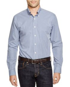 Brooks Brother Micro Gingham Classic Fit Button Down Shirt