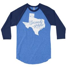 Texas Second Grade Y'all | Teacher 3/4 sleeve raglan shirt