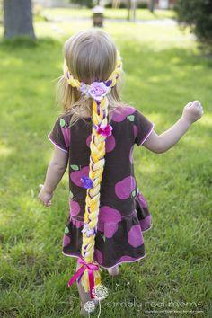 DIY Rapunzel Yarn Braids - Simply Real Moms