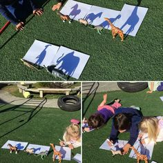 Shadow drawing morning activity. Found on Facebook.