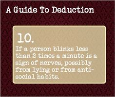 A guide to deduction 10.