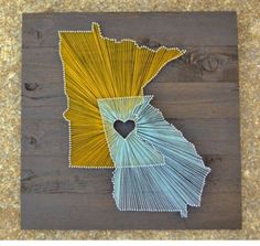 Cute idea for couples from different states. State String Art - Sugar Bee Crafts