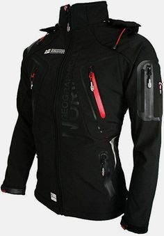 GEOGRAPHICAL NORWAY - giacca softshell giacca funzione resistente all' acqua Black - Black Small Really sharp looking jacket Tactical Wear, Tactical Jacket, Tactical Clothing, Geographical Norway, Revival Clothing, Cool Outfits, Fashion Outfits, Cyberpunk Fashion, Mens Clothing Styles